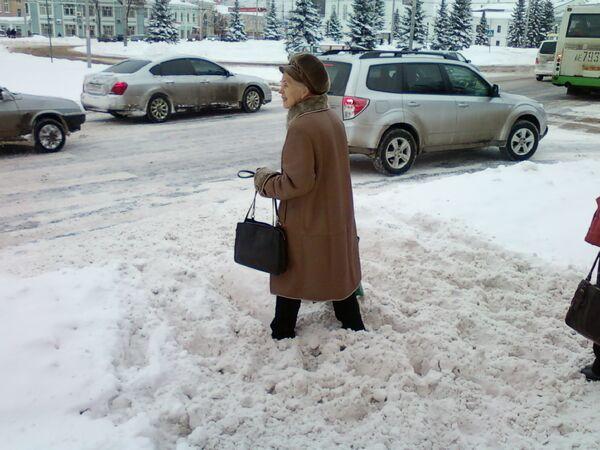 Снегопад в Ярославле