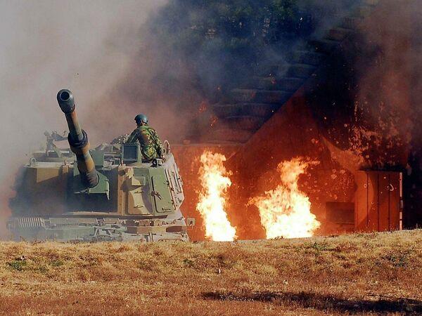 Военная база Южной Кореи на острове Йонпхёндо, которая была обстреляна КНДР