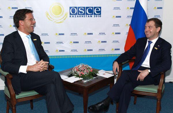 Встреча Дмитрия Медведева с премьер-министром Нидерландов Марком Рютте