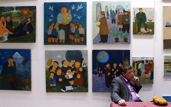 Открытие XV Московской художественной ярмарки Арт Манеж 2010