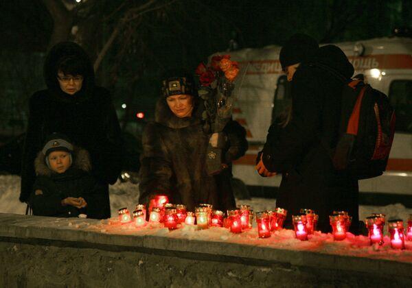 Акция в память о погибших в пермском ночном клубе Хромая лошадь