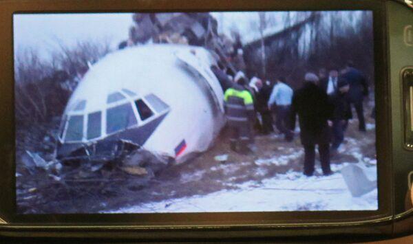 Самолет Ту-154 совершил аварийную посадку в Домодедово