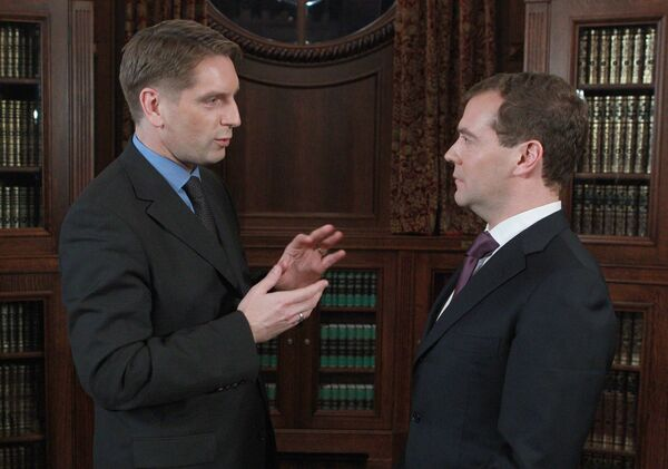 Президент РФ Д.Медведев дал интервью польским средствам массовой информации