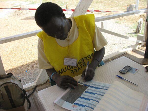 Регистрация участников будущего референдума об отделении Южного Судана в столице юга Джубе