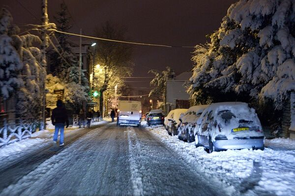 Снежные заносы в Париже