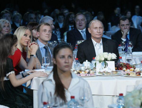 Владимир Путин посетил благотворительный концерт в Санкт-Петербурге