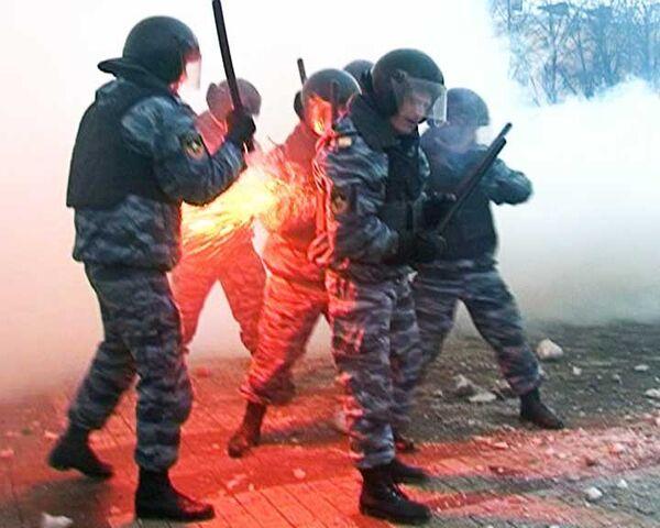 Массовые беспорядки на Манежной площади. Видео с места событий