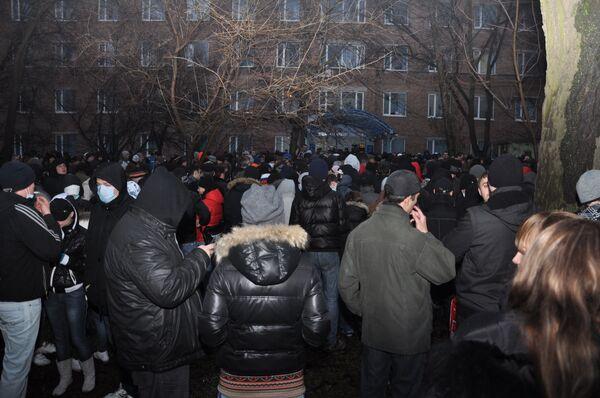 Митинг в память о погибшем студенте Ростовского государственного строительного университета Максиме Сычеве