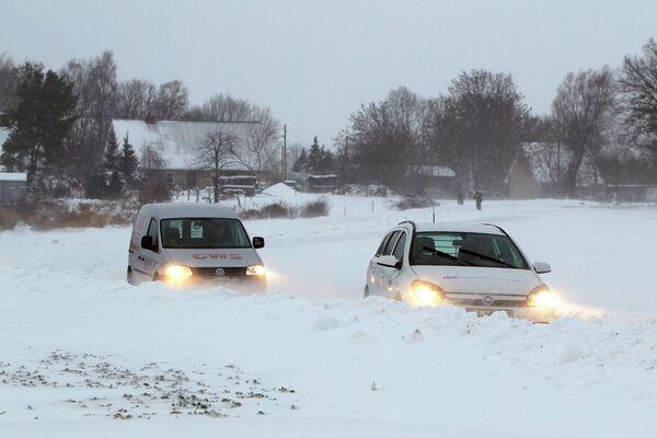 Последствия снегопадов в Германии