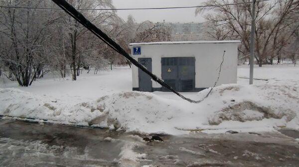 Последствия ледяного дождя в Москве