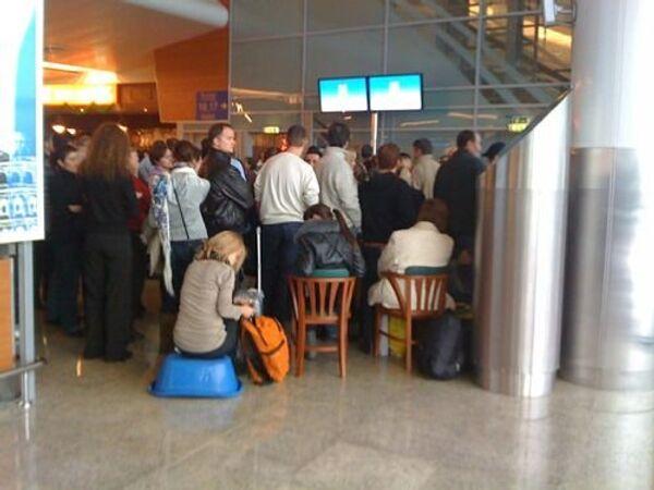 Массовые задержки рейсов в Шереметьево