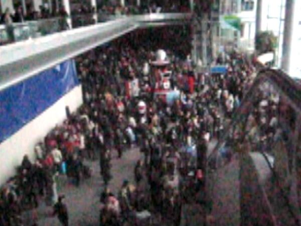 Огромные очереди в аэропорту  Домодедово