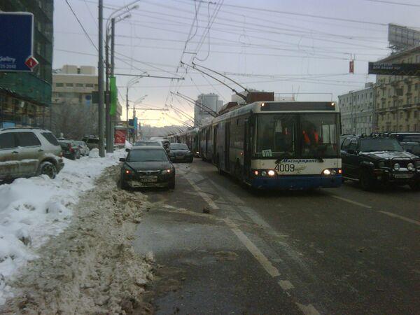 Движение на улицах Москвы. Архив