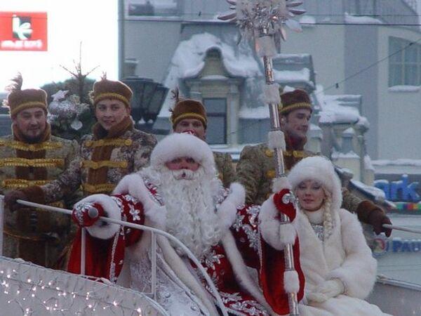 Дед Мороз прибыл в Петербург