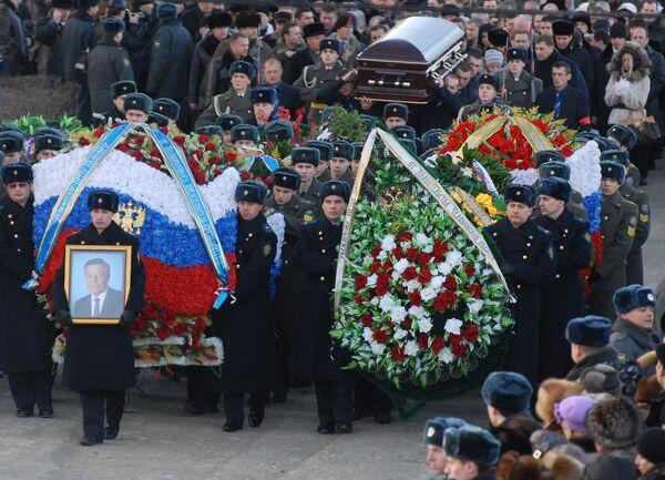 Похороны первого губернатора Челябинской области Петра Сумина