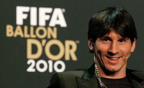 Аргентинец Лионель Месси назван ФИФА лучшим футболистом 2010 года