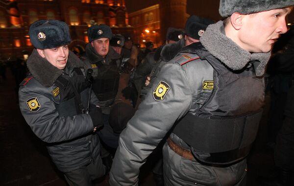 Усиление мер безопасности в районе Манежной площади