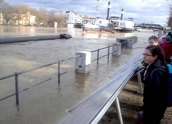 В германском городе Регенсбург река вышла из берегов