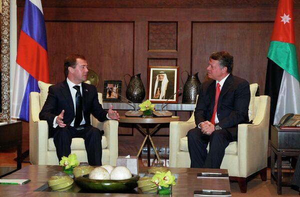 Президент РФ Дмитрий Медведев и король Иордании Абдалла II
