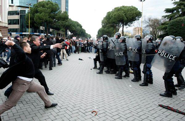Беспорядки в Албании