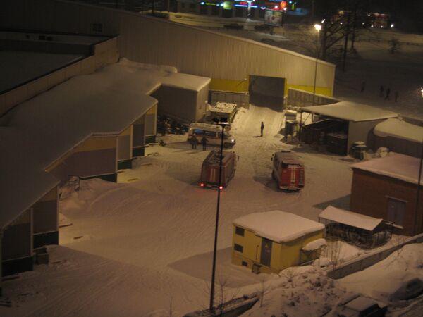 Обрушение крыши магазина Окей в Петербурге