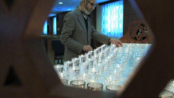 Церемония зажжения свечей, посвященная памяти жертв Холокоста. Архивное фото