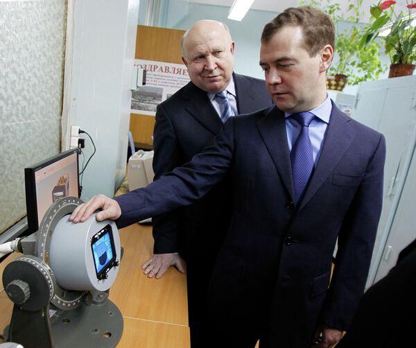 Президент РФ Д.Медведев посетил предприятие Темп-Авиа в Арзамасе