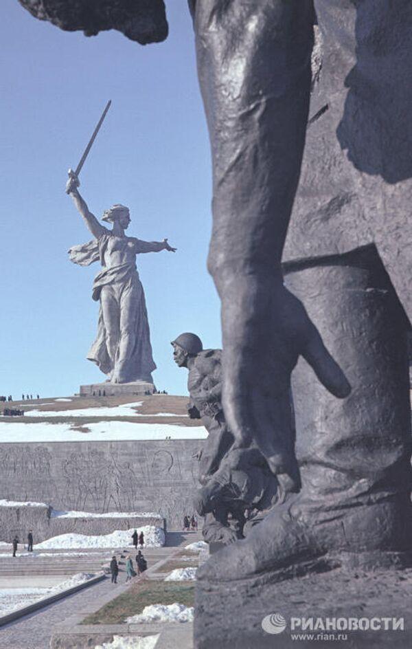 На Мамаевом кургане в Волгограде