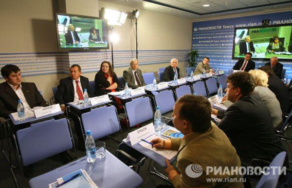 Телемост в медиацентре РИА Новости в Томске