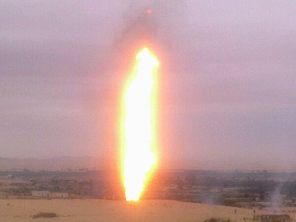 Взрыв на газопроводе в Египте