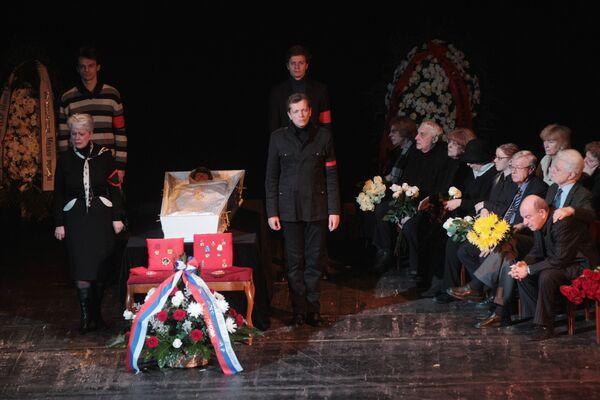 Прощание с народной артисткой СССР Татьяной Шмыгой