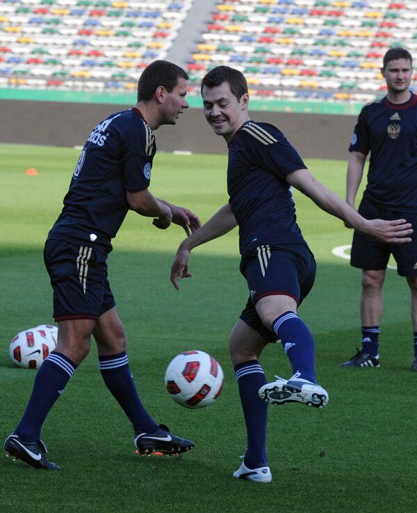 Константин Зырянов и Динияр Билялетдинов (слева направо)