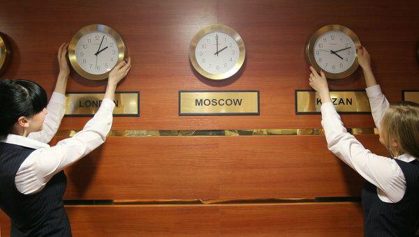 Россия затянет часовые пояса