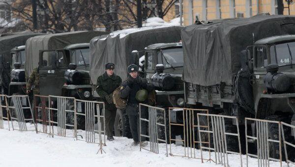 Усиление мер безопасности на Манежной площади
