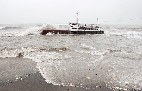 Турецкий сухогруз Бешикташ потерпел крушение в шторм у берегов Сочи