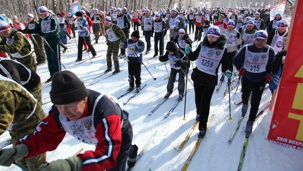 Лыжня России в Приморье