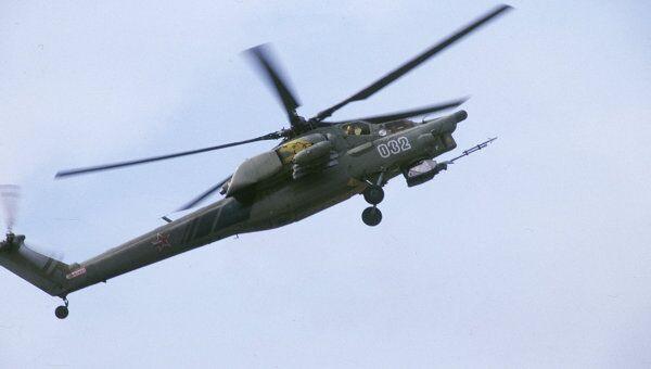 Боевой вертолет круглосуточного действия Ми-28. Архив