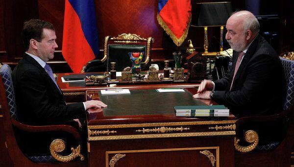 Президент РФ Д.Медведев провел встречу с В.Вексельбергом