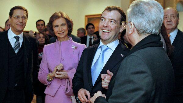 Президент РФ Д.Медведев в Эрмитаже