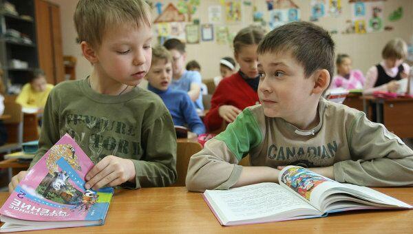 В одной из школ Москвы. Архив