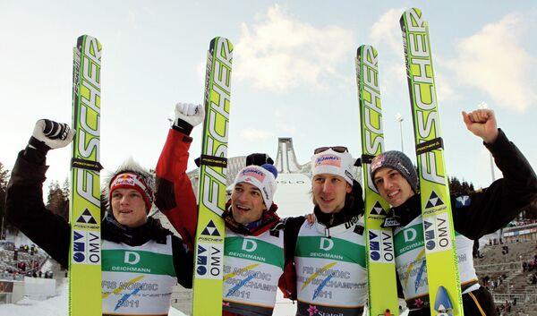 Австрийские летающие лыжники