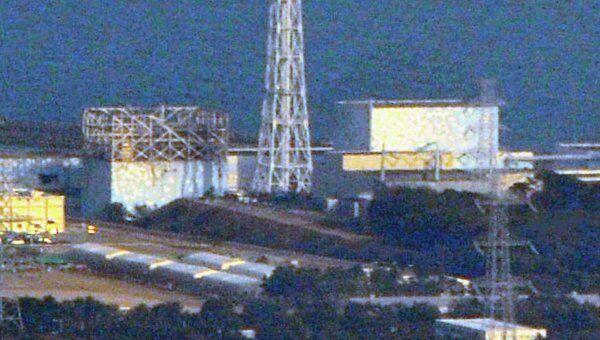 Разрушенный реактор АЭС Фукусима-1 в Японии
