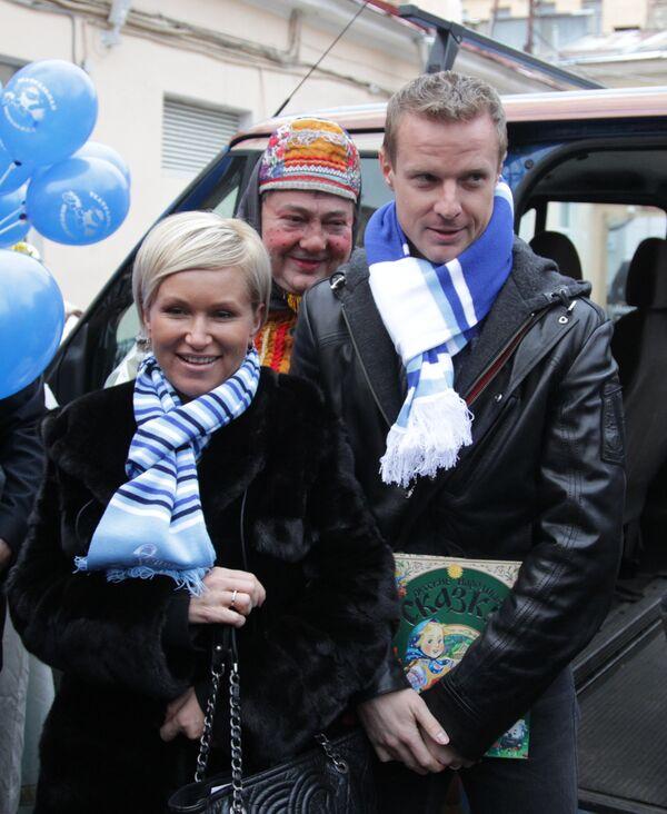 Вячеслав Малафеев и его жена Марина Малафеева
