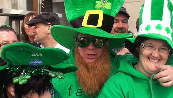 Манхеттен оделся в зеленое в честь парада в День святого Патрика