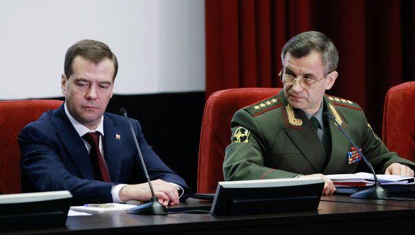 Президент РФ Дмитрий Медведев на расширенном заседании коллегии Министерства внутренних дел РФ