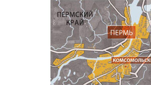 Крупный пожар вспыхнул в центре Перми