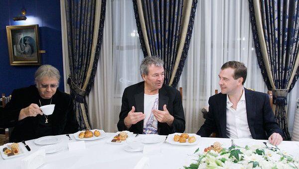 Встреча президента РФ Дмитрия Медведева с участниками музыкальной группы Deep purple