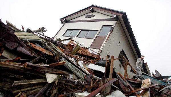 Последствия землетрясения в префектуре Мияги, Япония. 31 марта 2011 г.