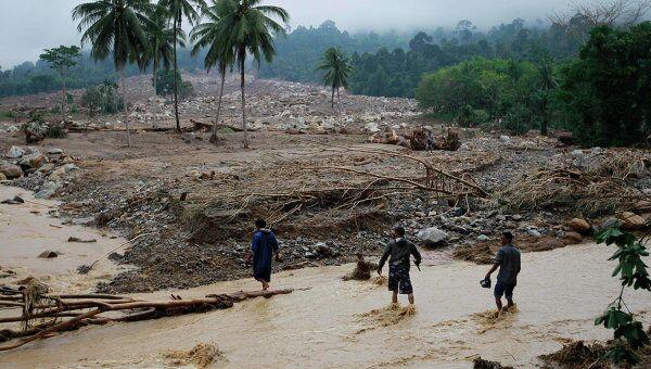 Последствия наводнения в провинции Краби на юге Таиланда