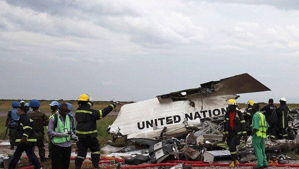 Самолет миссии ООН разбился в аэропорту столицы Конго